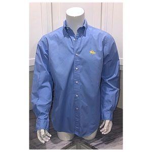 Vintage Ralph Lauren Dress Shirt Medium M Blue